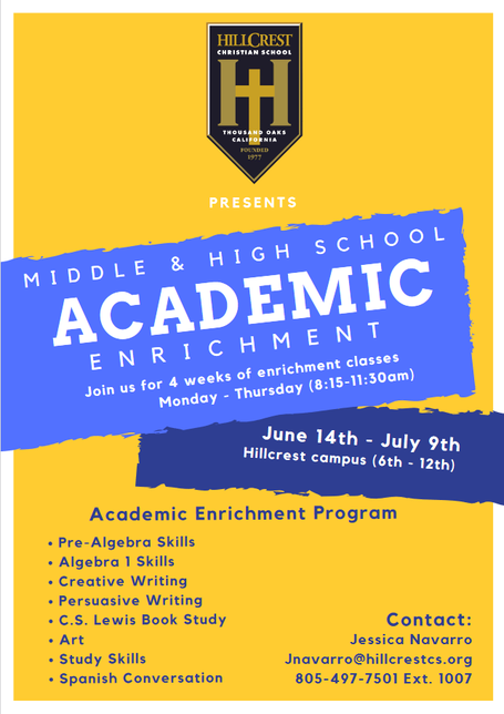 Middle & High School Academic Enrichment